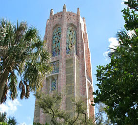 Bok Tower Gardens, botanical gardens in Lake Wales, Polk County Florida